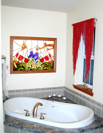 Installed garden window in master bath