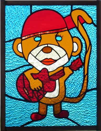 Monkey with guitar